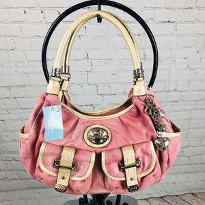 NWT Blush/Gold Kathy Van Zeeland Shoulder Bag